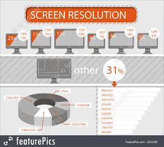 Monitor Resolution Chart Illustration Of Infographics Of Lcd Monitors Screen Resolution