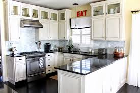 Small Kitchen Remodeling Ideas White Cabinets On The Black Modern