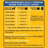Pedigree Food Chart