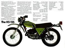 kawasaki ks 125 enduro motorcycle ad my first bike vintage