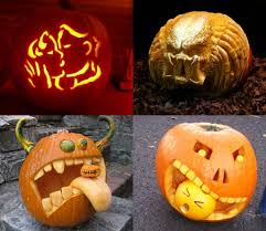 ... Gorgeous Image Of Halloween Decoration With Various Predator Pumpkin  Carving : Exciting Picture Of Accessories For ...