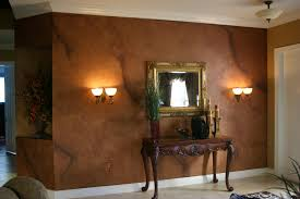 accent wall at the foyer