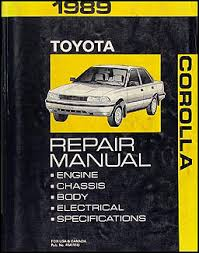toyota corolla wiring diagram manual original 1989 toyota corolla repair shop manual original