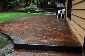 Pressed Concrete Patio Cost Outdoor Goods