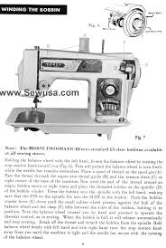 Morse 6300 Sewing Machine Manual