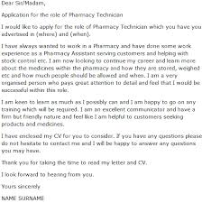 Dear Sir Madam Cover Letter Pharmacy Technician Cover Letter Example Learnist Org