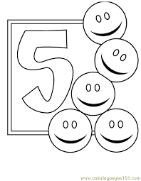 Small Picture Numbers 5 Coloring Pages 7 Com Coloring Page Free Numbers