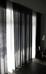 White And Black Curtains For Living Room Simple Is Beautiful Black Or Custom Color Linen Curtain Panel By