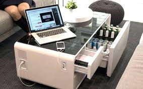 coffee table fridge coffee table is a fridge coffee table and charging station rolled into one