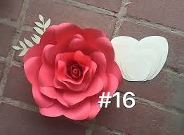 Flower Templates For Paper Flowers Hard Copy 16 Paper Flower Template Diy Giant Flowers