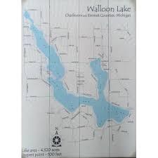Signs Walloon Lake Map Sign Walloon Lake Maps Map Signs
