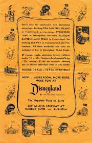 Day At Disneyland Ticket Book Flyer 1956 Disney