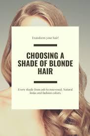 choosing a shade of blonde hair color