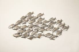 wall art ideas design sculptures schools fish metal wall on ceramic fish wall art uk with metal school of fish wall art elitflat