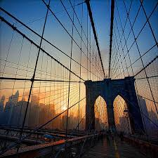 architectural detail photography. Brookyln Bridge, New York At Sunset. Architecture Architectural Detail Photography R