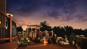 trex deck lighting. Trex Deck Lighting. A Is Shown At Sunset With Curved Railing, Pergola, Fireplace, Lounge Lighting G