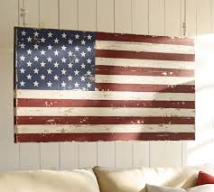 on american flag wall art wood and metal with painted american flag pottery barn