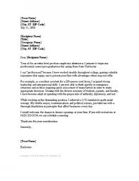 Cover Letter For Academic Position Cover Letter Entry Level Professional Info Position Letters