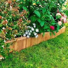 pretty garden edges wood