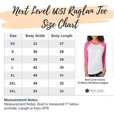 Next Level Raglan Shirt Size Chart Womens Custom Printed Apparel Pixie Posh Apparel Page 2