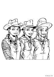 K3 Als Cowboys Kleurplaat Jouwkleurplaten