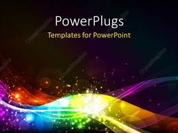 Powerpoint Template Abstract Shiny Colorful Waves With