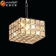 square crystal chandelier pendant lamp modern hanging light rectangular cut