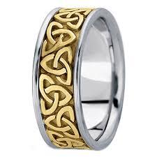 mens celtic knot wedding bands. two tone 14k white \u0026 yellow gold trinity celtic knot wedding ring mens bands n