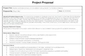 Cost Proposal Template Word 7 Project Proposal Sample For Students Template Word 2010