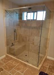 pacifica glass installed this shower enclosure in el cajon ca using ⅜ tempered glass panels the enclosure features sleek chrome hardware and an 8