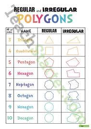Regular And Irregular Polygons Teaching Resource Regular