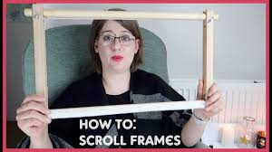 how to attach embroidery to a scroll frame