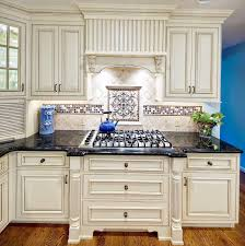 off white kitchen cabinets with black countertops. Cream Kitchen Cabinets With Black Granite Countertops Off White