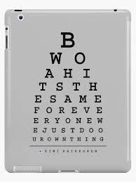 Are All Eye Charts The Same Kimi Raikkonen Quotes Eye Chart Dark Ipad Case Skin By Edwarddunning