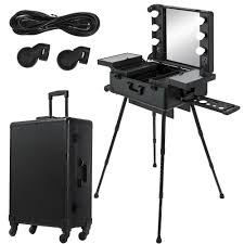 dels about 2in1 rolling makeup case trolley train box le mirror train case cosmetic