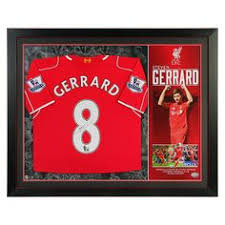signed gerrard shirt liverpool fc