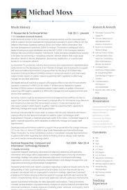 Sample Resume For Technical Writer Writer Resume Resume