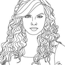 Small Picture Taylor Swift Coloring Page Color Luna