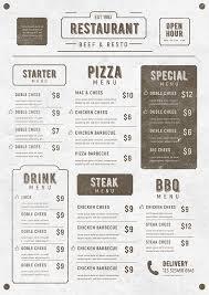 44 Premium Food Menu Templates To Download Naldz Graphics