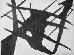 my abstract black and white painting