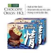 Bánh Chocopie Nhân Cam Orion Hàn Quốc   Bánh Mềm