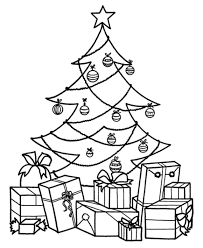 Small Picture Coloring Pages For Christmas Tree And Presents Christmas Fun