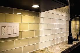 clear glass tiles subway tile backsplash installation