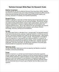 White Paper Templates Research Concept Paper Template Example