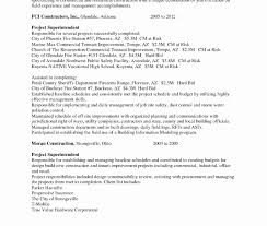 Sample Construction Superintendent Resume Superintendent Resume Example Free Templates Collection