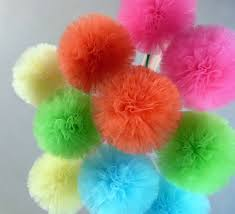 Tulle Ball Decorations Tulle Decorations Medium Tulle Pom Pom Balls Custom Unique 2