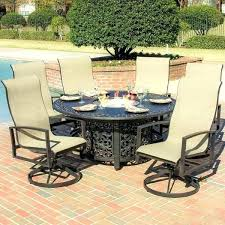 fire pit dining table. Hexagon Dining Table Patio Sets Amazing Outdoor Fire Pit In With
