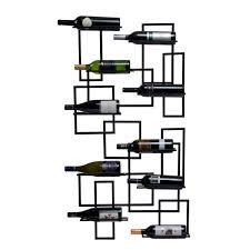 amazoncom oenophilia mid century wall mount wine rack