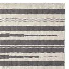 aura stripe indoor outdoor rug grey