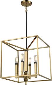 elk 67754 4 mandeville contemporary satin brass oil rubbed bronze foyer lighting fixture loading zoom
